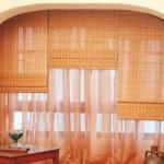 Cortinas Romanas bambu combinada
