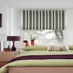 Diseño de rayas verticales para cortinas romanas